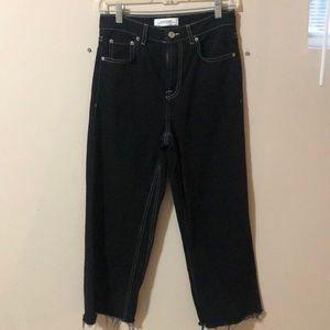 Zara Jeans - ZARA TOP STITCH MIDNIGHT BLACK DENIM